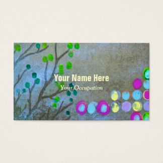 Huellas dactilares y ramitas tarjeta de visita