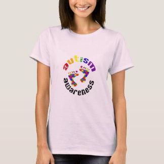 Huellas de la conciencia del autismo camiseta