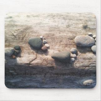 Huellas de la roca alfombrilla de ratón