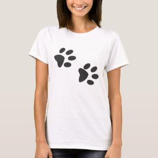 Huellas del gato camiseta