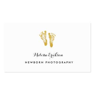 Huellas elegantes del oro del fotógrafo recién tarjetas de visita