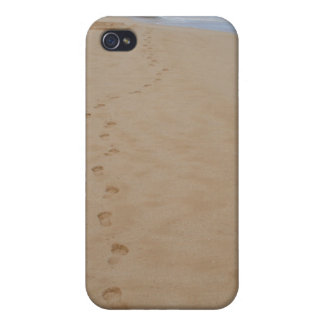 Huellas en el caso del iPhone de la arena iPhone 4/4S Carcasas