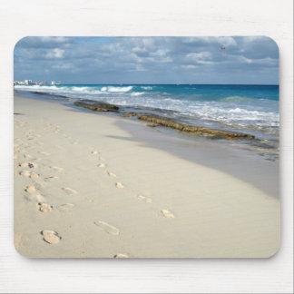huellas en el mousepad de la arena alfombrilla de ratón