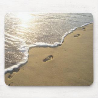 Huellas en la arena tapetes de ratones