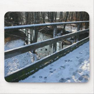 Huellas en la nieve Mousepad Alfombrillas De Ratón