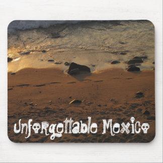 Huellas en la playa; Recuerdo de México Alfombrillas De Ratón