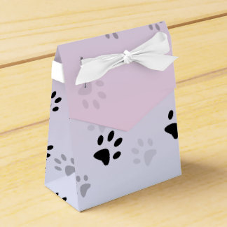 Huellas frescas rosa y azul del gato paquetes para detalles de bodas