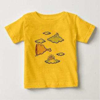 Hueso del jamón del vuelo camiseta de bebé