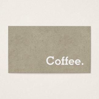 Tarjeta De Visita Hueso oscuro de la tarjeta perforada del café de