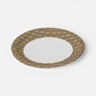 hueso para la textura del perro platos de papel