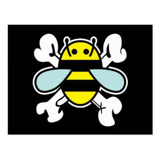huesos de la abeja y de la cruz postal