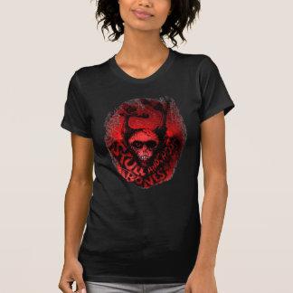 Huesos de n del cráneo rojo ' camisetas