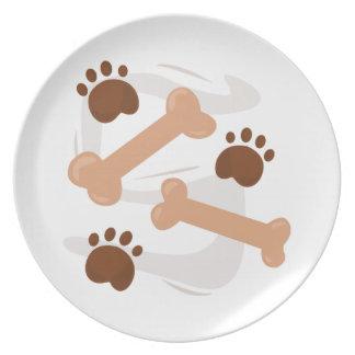 Huesos de perro plato de comida