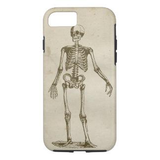 Huesos retros manchados antigüedad esquelética del funda iPhone 7