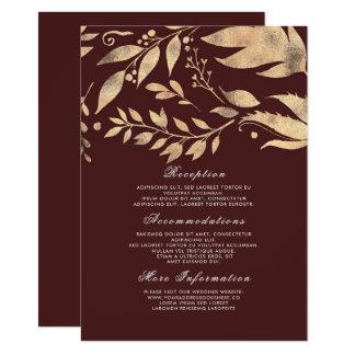 Huésped de la información del boda de la caída de invitación 11,4 x 15,8 cm