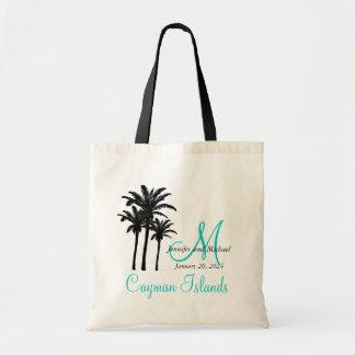 Huésped personalizada de la playa del boda del bolso de tela