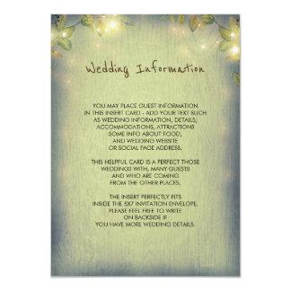 Huésped rústica de la información del boda del invitación 11,4 x 15,8 cm