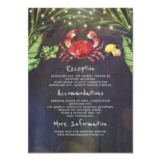 Huésped tropical de la información del boda del invitación 11,4 x 15,8 cm