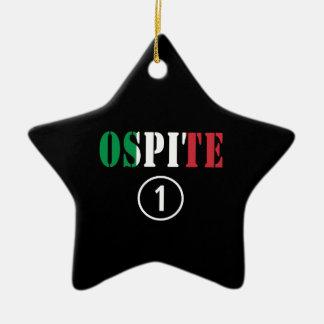 Huéspedes italianas Uno de Ospite Numero Ornaments Para Arbol De Navidad