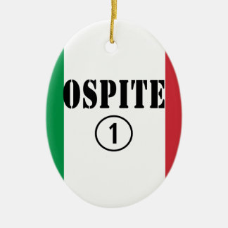 Huéspedes italianas: Uno de Ospite Numero Adorno Ovalado De Cerámica