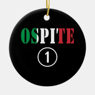 Huéspedes italianas: Uno de Ospite Numero Ornamento De Navidad
