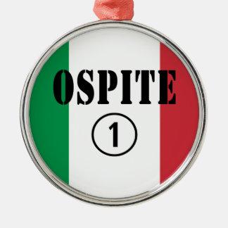 Huéspedes italianas: Uno de Ospite Numero Adorno Redondo Plateado