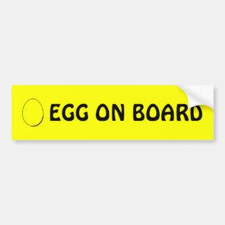 Huevo a bordo pegatina para el parachoques pegatina para coche