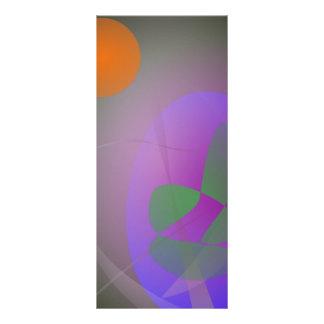 Huevo anaranjado de la púrpura de la luna tarjetas publicitarias a todo color