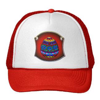 Huevo colorido de lujo enmarcado gorra