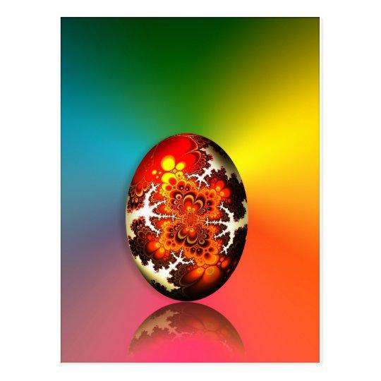 Huevo de Pascua del diseño del fractal Postal