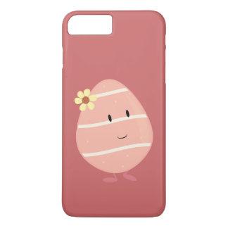 Huevo de Pascua rosado sonriente Funda iPhone 7 Plus
