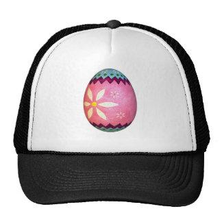 Huevo de Pascua teñido rosa de la margarita Gorro