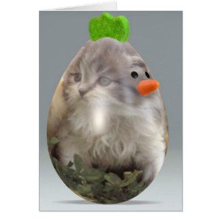 Huevo del polluelo de Pascua Tarjetas