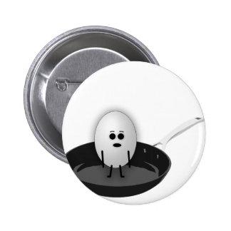 Huevo en cuestión chapa redonda de 5 cm