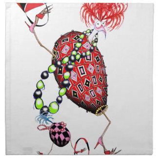 Huevo fabuloso de rubíes rojo de Tony Fernandes Servilleta De Tela