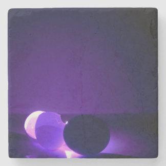 huevo púrpura posavasos de piedra