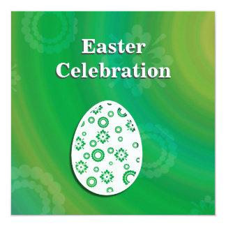 Huevo retro abstracto de Pascua - invitación