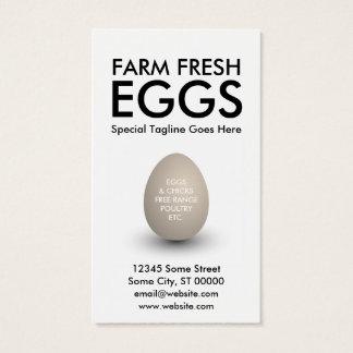 huevo tarjeta de negocios