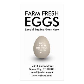 huevo tarjetas de visita