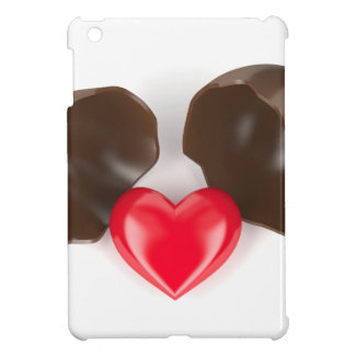 Huevo y corazón de chocolate