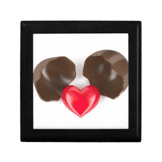 Huevo y corazón de chocolate joyero