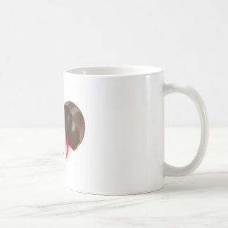 Huevo y corazón de chocolate taza de café