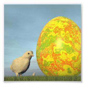 Huevo y polluelos de Pascua - 3D rinden Foto