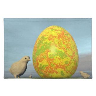 Huevo y polluelos de Pascua - 3D rinden Manteles