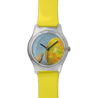 Huevo y polluelos de Pascua - 3D rinden Reloj De Pulsera