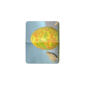Huevo y polluelos de Pascua - 3D rinden Tarjetero