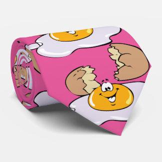 Huevos agrietados felices, rosados corbatas personalizadas