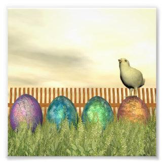 Huevos coloridos para pascua - 3D rinden Foto