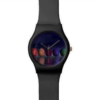 Huevos coloridos para pascua - 3D rinden Reloj De Pulsera