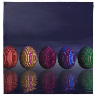 Huevos coloridos para pascua - 3D rinden Servilletas De Papel